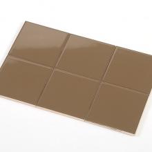 Gạch thẻ ốp tường vuông nâu bóng phẳng 100x100 M1114