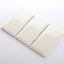 Gạch thẻ ốp tường màu be bóng mờ vát 100x200 M1201X