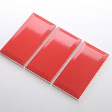 Gạch thẻ ốp tường màu đỏ bóng vát 100x200 M1210X