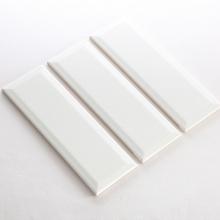 Gạch thẻ ốp tường màu trắng mờ vát 100x300 M1300XY