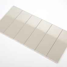 Gạch thẻ ốp tường màu xám nhạt bóng phẳng 100x300 M1302