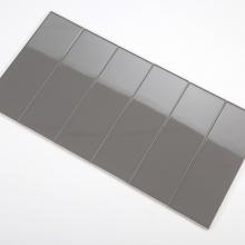 Gạch thẻ ốp tường màu xám đậm bóng phẳng 100x300 M1303