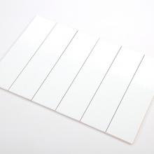 Gạch thẻ ốp tường màu trắng mờ khuôn100x400 M1400BY