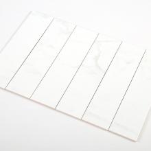 Gạch thẻ ốp tường inkjet mix carara khuôn bóng 100x400 M1420BY