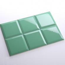 Gạch thẻ ốp tường vuông xanh lá cây bóng vát 150x150 M151506CX