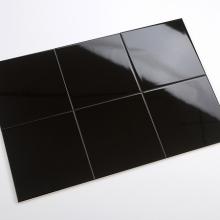 Gạch thẻ ốp tường vuông đen bóng phẳng 150x150 M151507