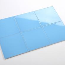 Gạch thẻ ốp tường vuông xanh da trời bóng phẳng 200x200 M2204