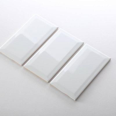 Gạch thẻ ốp tường màu trắng bóng vát 75x150 M751500X