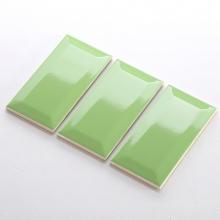 Gạch thẻ ốp tường màu xanh lá bóng vát 75x150 M751506X