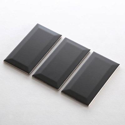 Gạch thẻ ốp tường màu đen mờ vát 75x150 M751507XY