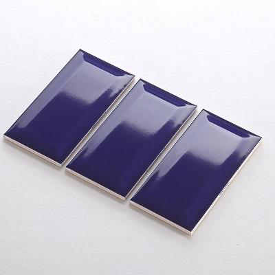 Gạch thẻ ốp tường màu xanh đậm bóng vát 75x150 M751508X