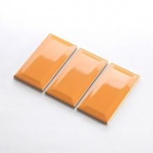 Gạch thẻ ốp tường màu cam nhạt bóng vát 75x150 M751509BX