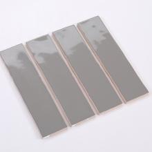Gạch thẻ ốp tường xám đậm bóng lượn sóng 75x300 M75304L