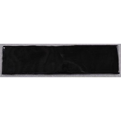 Gạch thẻ ốp tường đen bóng lượn sóng 75x300 M75305L
