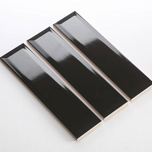 Gạch thẻ ốp tường đen bóng vát 75x300 M75305X