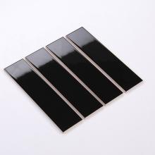 Gạch thẻ ốp tường đen bóng phẳng 75x300 M75307Z