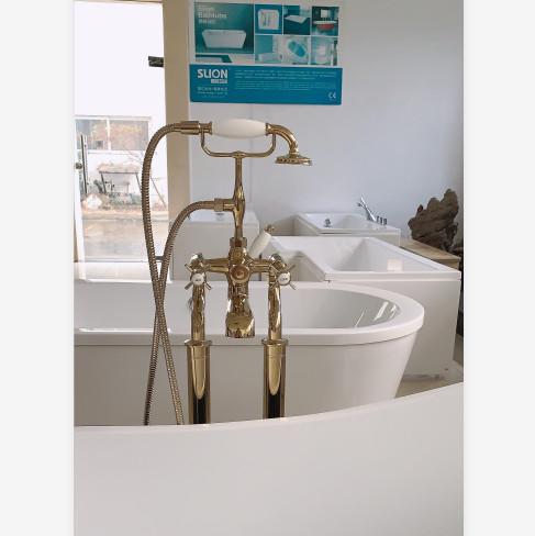 Sen cây mạ vàng đặt sàn bồn tắm Miken MK-SL2419GB