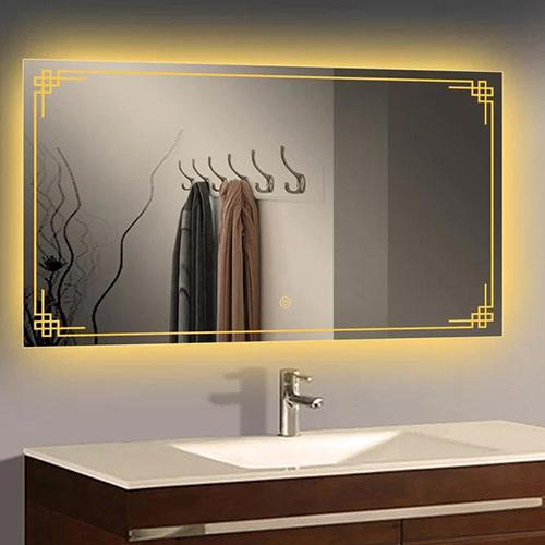 Gương led hình chữ nhật nghệ thuật MIKEN MKG-NT0029