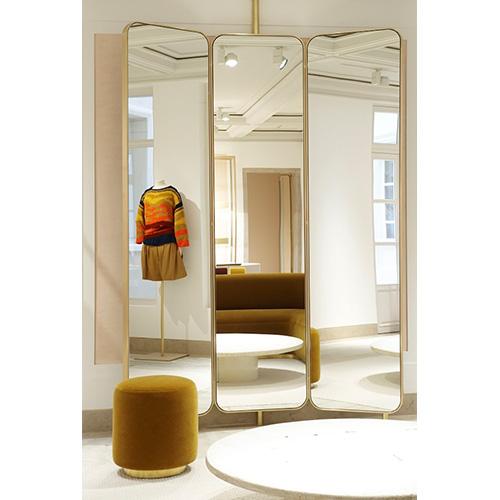 Gương soi toàn thân cánh mở mạ vàng MIKEN MKG-TT0010