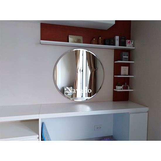 Gương tròn vát cạnh bàn trang điển Navado NO15177