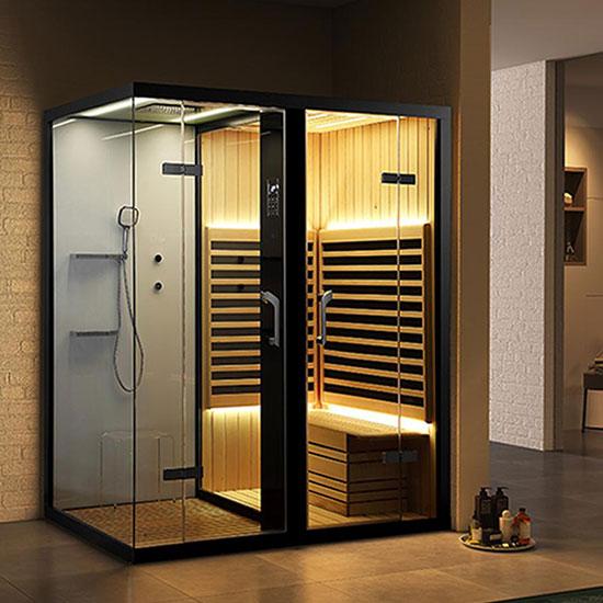 Phòng xông hơi ướt và khô Nofer SN-99100R