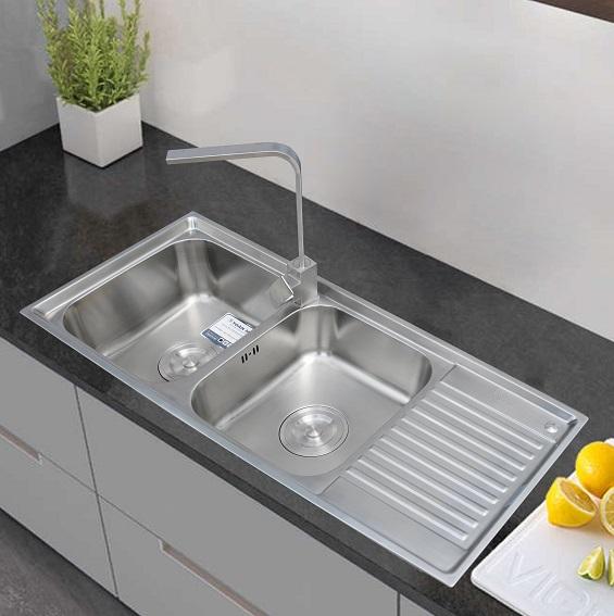 Chậu rửa bát có bàn Toàn Mỹ TMS105D.2.3