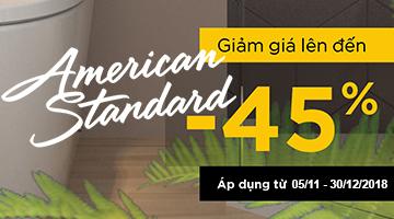 Khuyến mại thiết bị vệ sinh American Standard