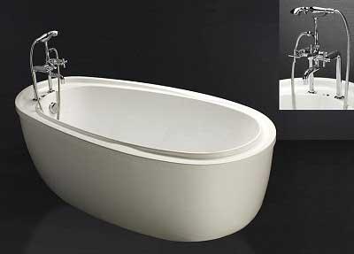Bồn tắm nằm với kích thước vừa phải