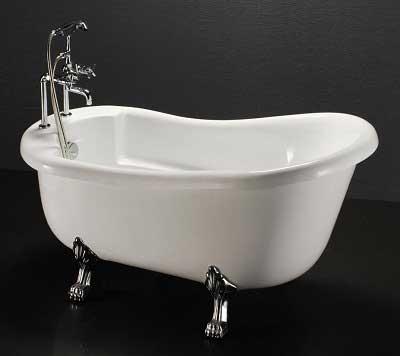 Bồn tắm thường đơn với kiểu dáng đơn giản hiện đại