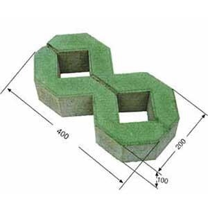 Gạch lát trồng cỏ 2 lỗ