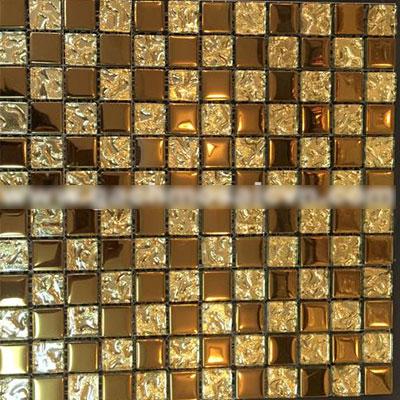 Gạch ốp trang trí phòng karaoke Mosaic Gold