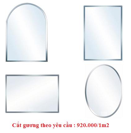Gương phòng tắm cắt theo yêu cầu