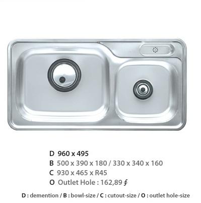 Chậu rửa bát CICO ISDP-960