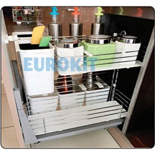 Giá để dao thớt gia vị chai lọ inox Eurokit MB 300