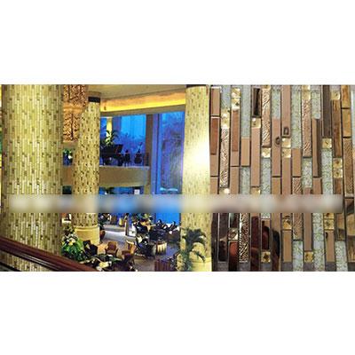 Gạch ốp trang trí phòng karaoke Mosaic Rồng Vàng