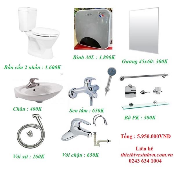 Thiết bị vệ sinh giá rẻ HM004