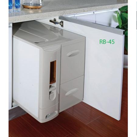 Thùng gạo 3 khoang âm tủ Grob RB-45