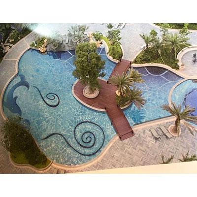 Gạch tranh bể bơi Mosaic CT3