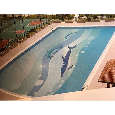 Gạch tranh bể bơi Mosaic CT2