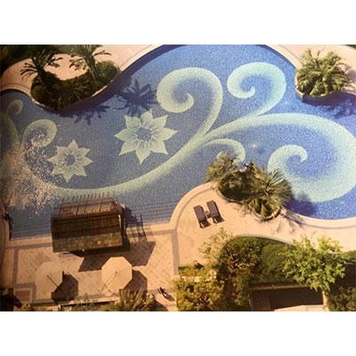 Gạch tranh bể bơi Mosaic CT1