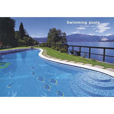 Gạch tranh bể bơi Mosaic T01