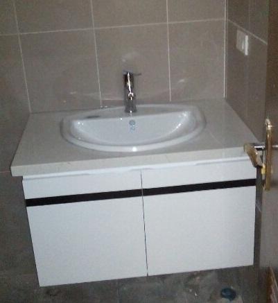 Bộ tủ chậu PVC may đo theo kích thước HM44