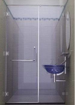 Vách kính nhà tắm VK 06
