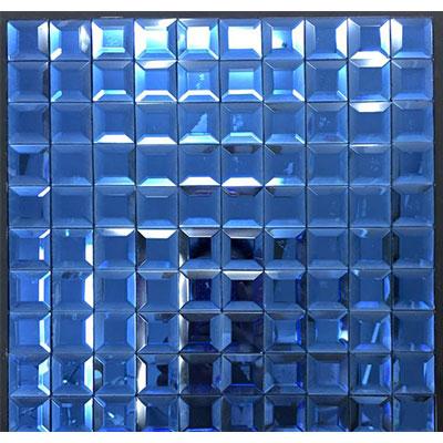 Gạch ốp trang trí phòng karaoke Mosaic Vát 4 Cạnh Xanh