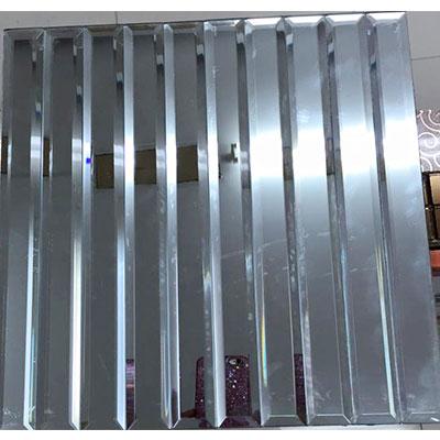 Gạch ốp trang trí phòng karaoke Mosaic Vát Dài Trắng