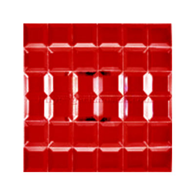Gạch ốp trang trí phòng karaoke Mosaic Vát Đỏ 4 Cạnh