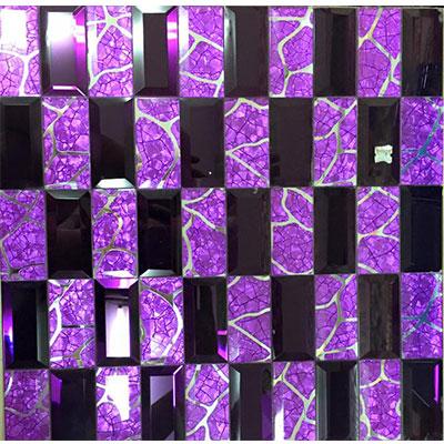 Gạch ốp trang trí phòng karaoke Mosaic Vát Tím Chữ Nhật