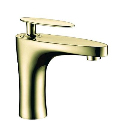 Vòi chậu lavabo mạ vàng Cleanmax 008